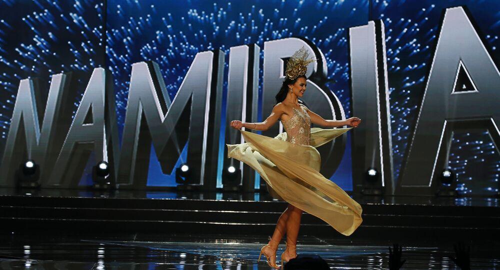 Miss Universe contestant Lizelle Esterhuizen of Namibia