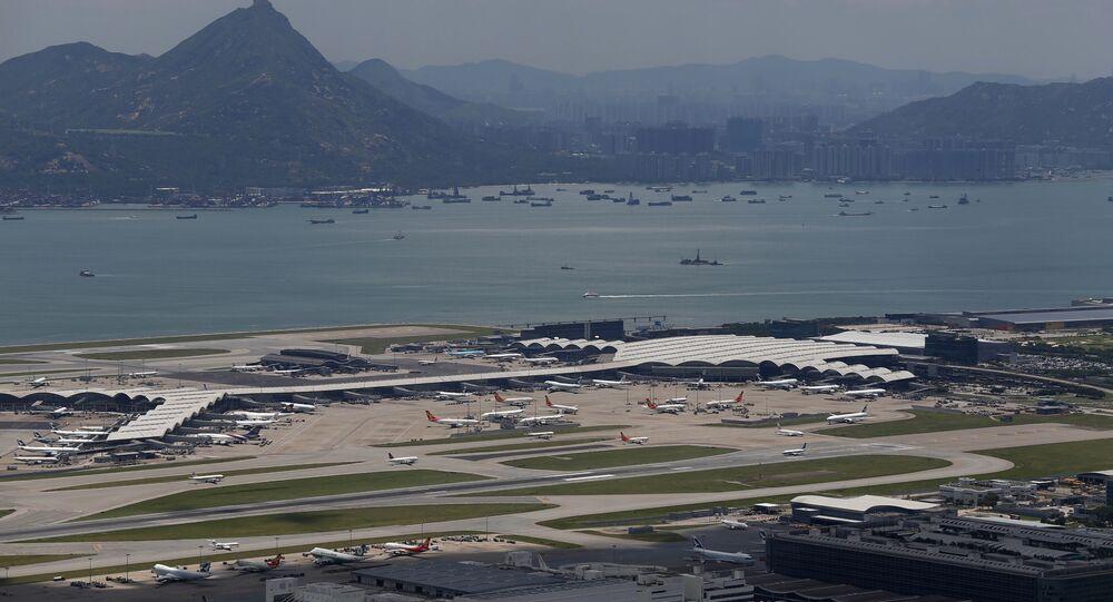 Hong Kong International Airport, also known as Chek Lap Kok Airport, is seen in Lantau Island, Hong Kong