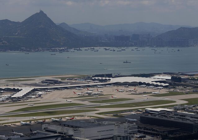 Hong Kong International Airport, also known as Chek Lap Kok Airport, is seen in Lantau Island, Hong Kong