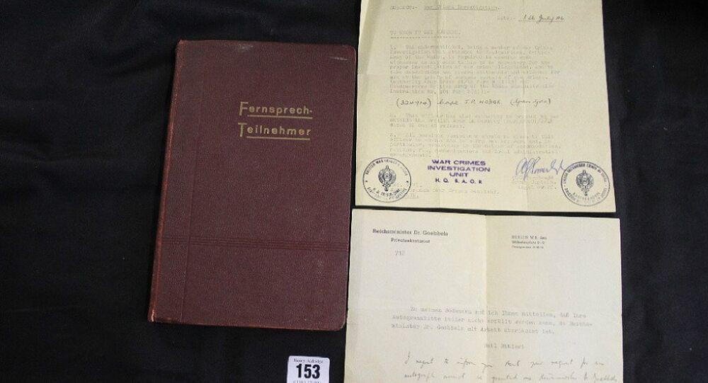 Adolf Hitler's phone directory
