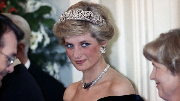 The Princess of Wales is pictured during an evening reception given by the West German President Richard von Weizsacker in honour of the British Royal guests in the Godesberg Redoute in Bonn, Germany on Monday, Nov. 2, 1987. - Sputnik International