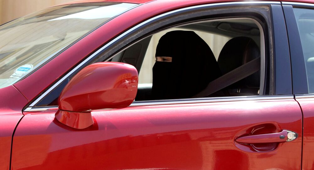 A woman drives a car in Riyadh, Saudi Arabia (File)