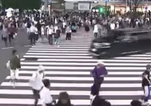 Scary traffic in Tokyo