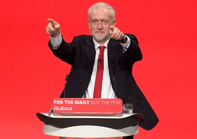 Britain's opposition Labour Party Leader Jeremy Corbyn delivers his keynote speech at the Labour Party Conference in Brighton, Britain, September 27, 2017.