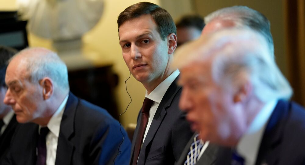 White House senior advisor Jared Kushner (C) looks on as U.S. President Donald Trump (R) delivers remarks before meeting with Spain's Prime Minister Mariano Rajoy and his delegation at the White House in Washington, U.S. September 26, 2017