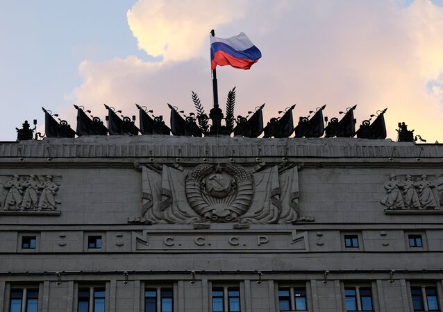 The Russian Defense Ministry building on Frunzenskaya embankment in Moscow