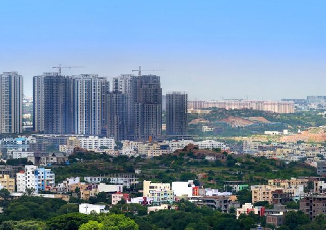 Hyderabad Financial district, India. (File)