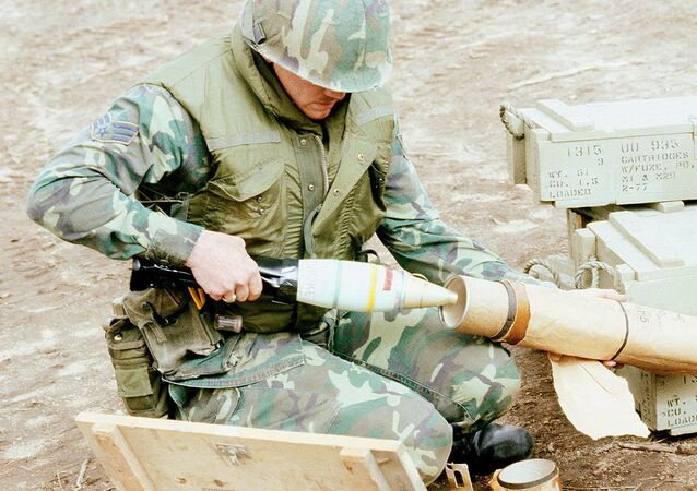 White Phosphorous mortar round
