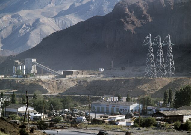 The town of Karakul where the Narynsky hydropower cascade construction workers' base is located. (File)