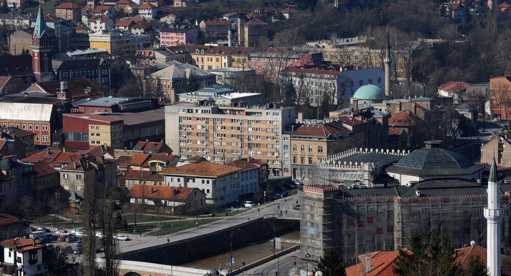 General view of Bosnian capital Sarajevo. (File)