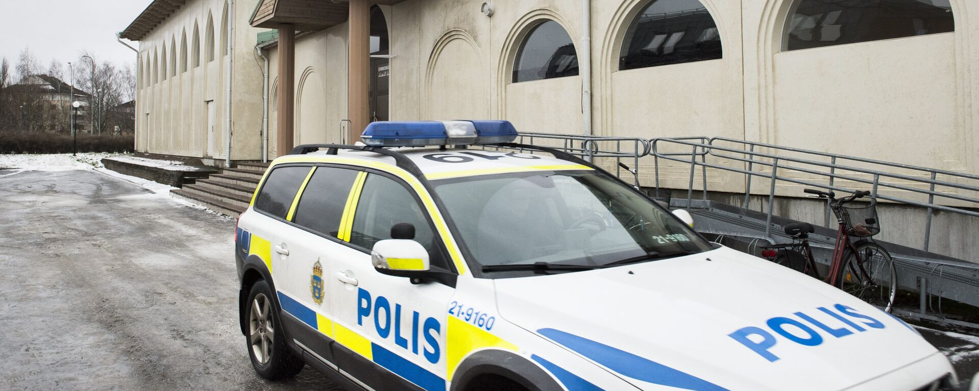 (File) A police car is parked in front of a mosque in Uppsala, Sweden, 1 January 2015 - Sputnik International, 1920, 19.07.2021