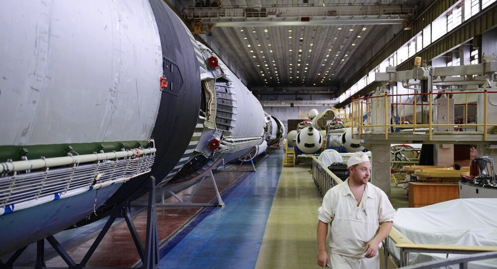 A shop at the Khrunichev State Research and Production Space Center. (File)