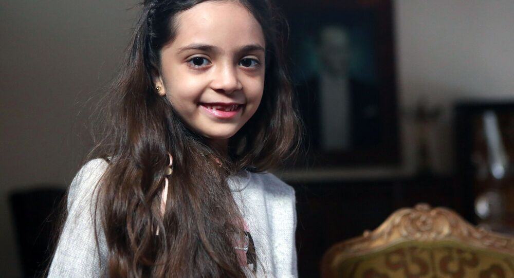 Syrian girl Bana al-Abed, known as Aleppo's tweeting girl, poses during an interview in Ankara, Turkey. (File)