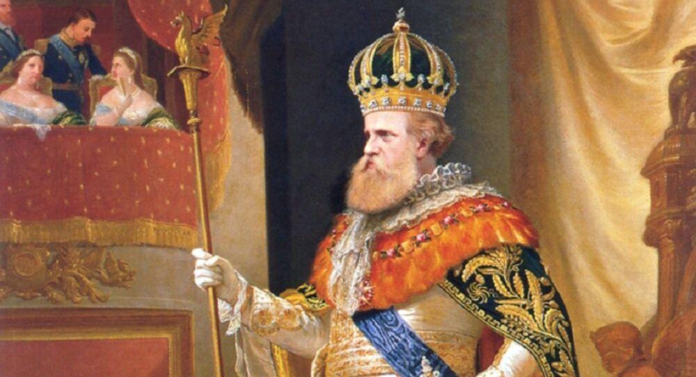 Emperor Pedro II of Brazil wearing the Imperial Regalia, by Pedro Américo