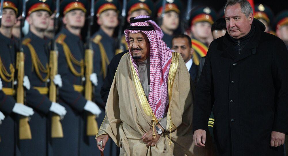King of Saudi Arabia Salman bin Abdulaziz Al Saud arrives in Moscow