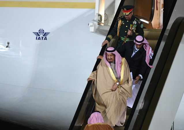 King of Saudi Arabia Salman bin Abdulaziz Al Saud arrives in Moscow