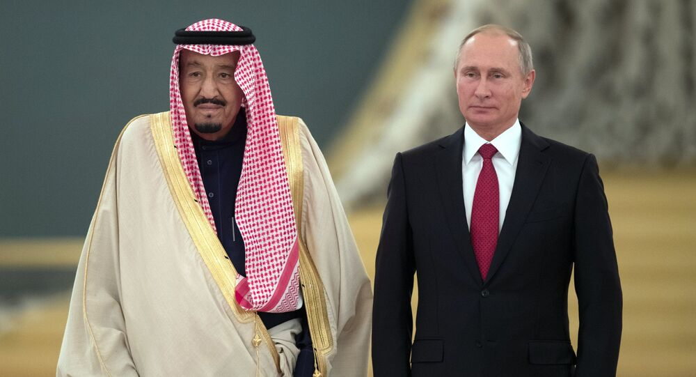 Russian President Vladimir Putin's talks with King Salman bin Abdulaziz Al Saud of Saudi Arabia
