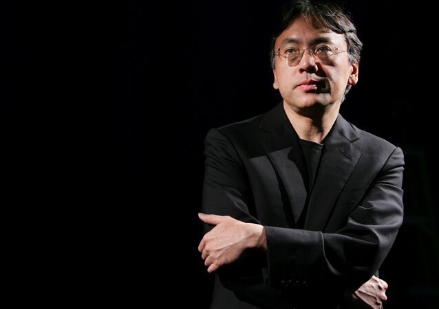 Author Kazuo Ishiguro photographed during an interview with Reuters in New York, U.S. (File)