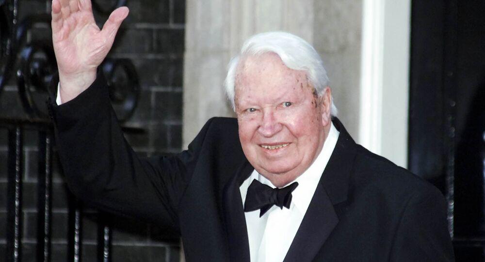 Britain's former Prime Minister Sir Edward Heath