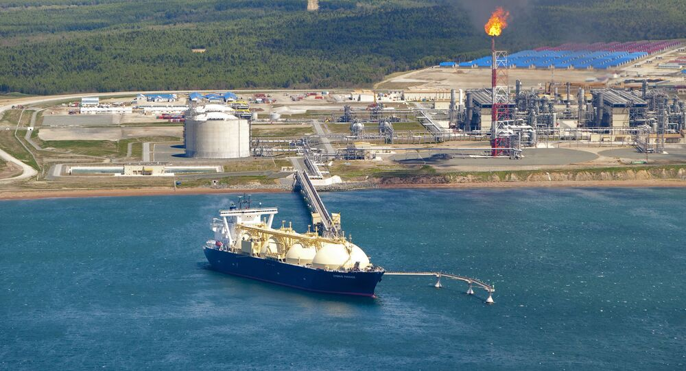 Russia's liquified natural gas (LNG) production facility (File)