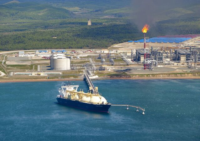 Russia's first liquified natural gas (LNG) production facility, on Sakhalin Island.