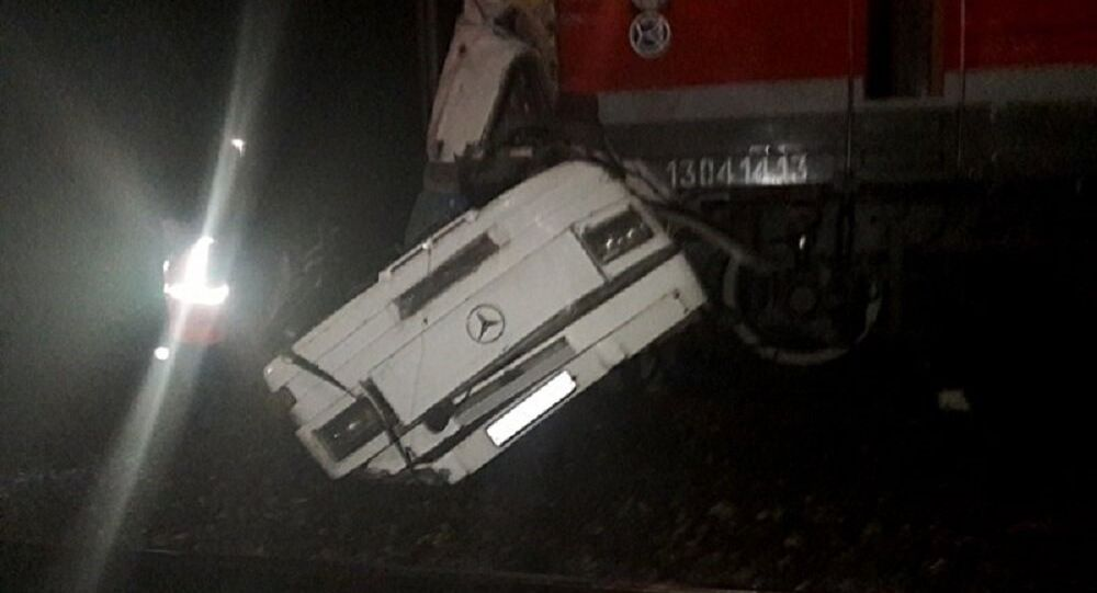 Train hit a passenger bus east of Moscow in Russia's Vladimir region