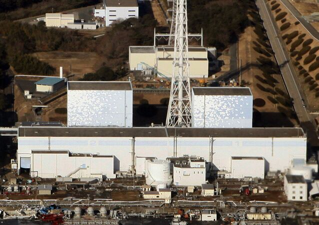 This aerial view shows the quake-damaged Fukushima nuclear power plant in the Japanese town of Futaba, Fukushima prefecture on March 12, 2011. (File)
