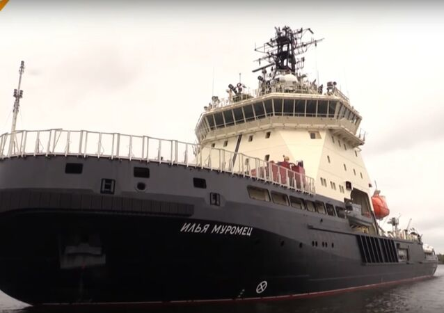 Russia's Ilya Muromets Icebreaker Sets Off For Sea Trial