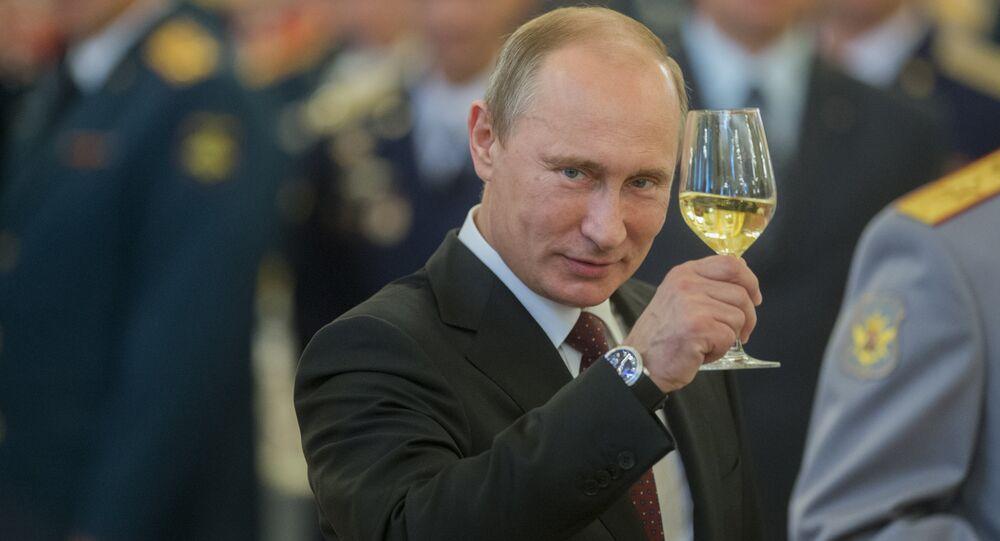 Vladimir Putin at reception held to honor military graduates at Kremlin