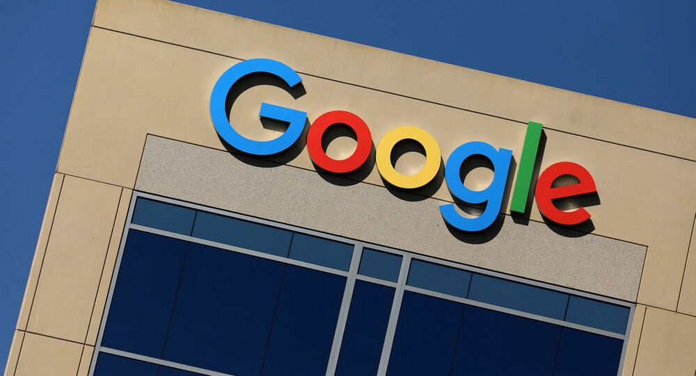 The Google logo is pictured atop an office building in Irvine, California, U.S. August 7, 2017.