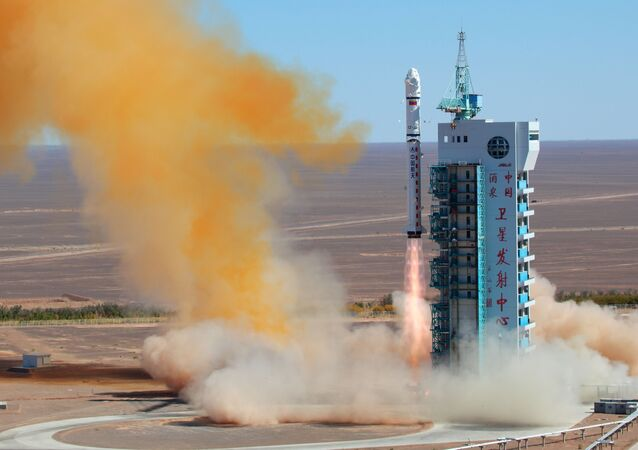 (File) A Chinese rocket takes off with the Venezuelan earth observation satellite Miranda from the remote Gobi desert in Jiuquan, northwest China's Gansu province on September 29, 2012