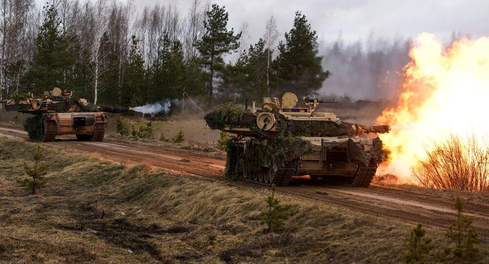 M1 Abrams tanks. File photo