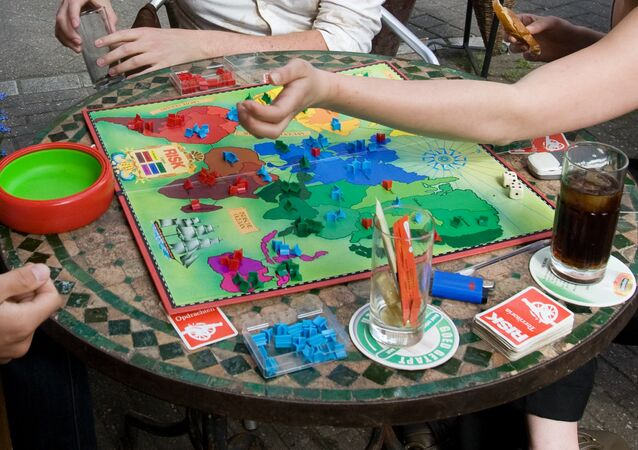 A game of Risk being played