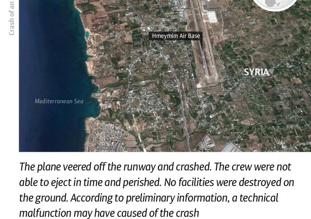 Crash of Russian Su-24 Warplane in Syria