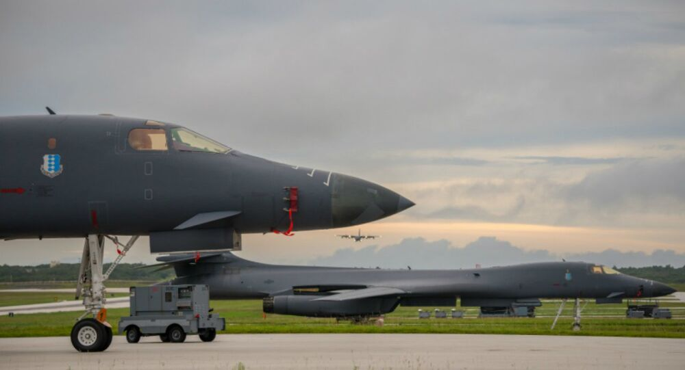 B-1Bs prepare to take off