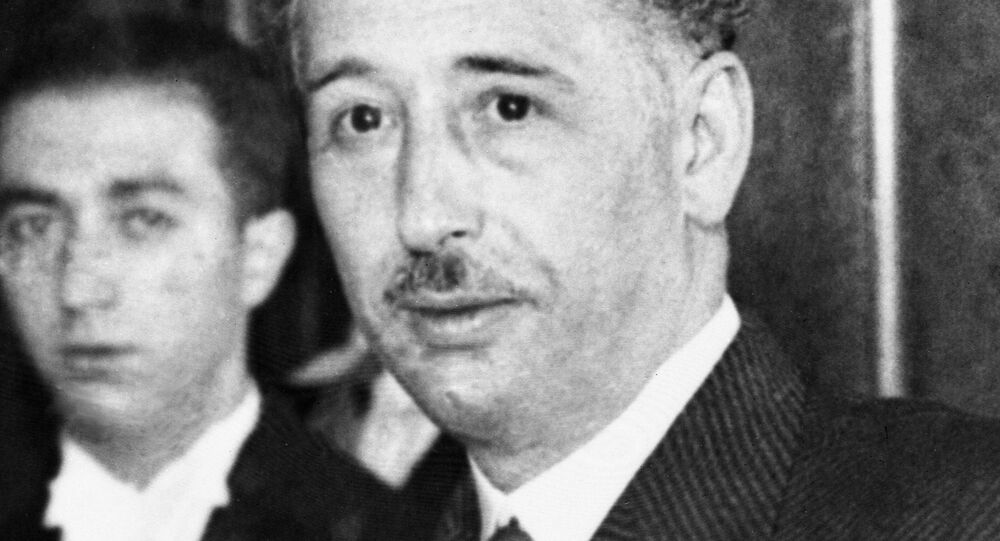 President Lluis Companys, who had proclaimed the new Independent Catalan Republic, pictured after he had surrendered to Government troops in Barcelona, Spain, on Oct. 7, 1934.