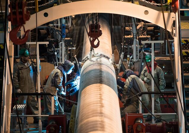 Welding operations for the construction of the Turkish Stream gas pipeline. File photo