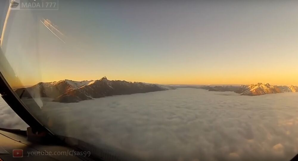 This is what the pilot sees and the passengers do not see During landing at Queenstown New Zealand A