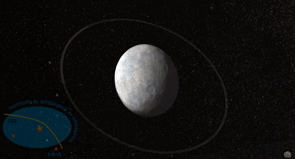 Artistic impression of Haumea's ring
