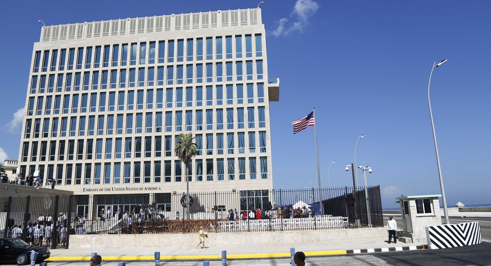 The United States flag flies at the newly-opened embassy in Havana, Cuba. (File)