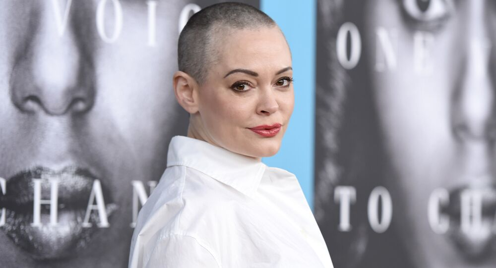 Rose McGowan arrives at the Los Angeles premiere of Confirmation at the Paramount Theatre. (File)