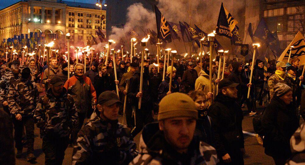 March of nationalists in Ukraine