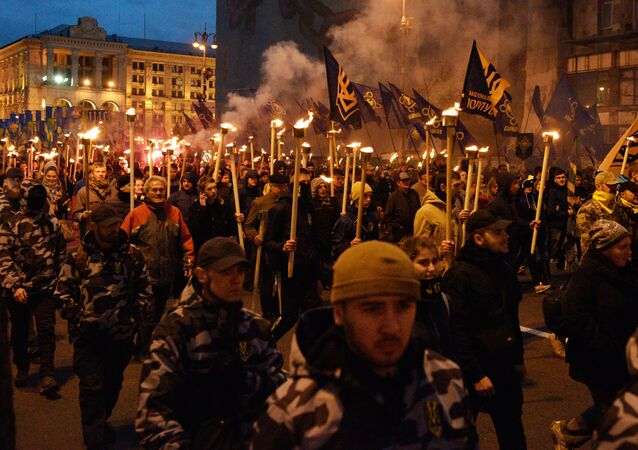March of nationalists in Ukraine