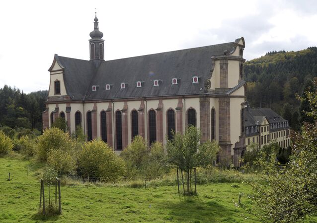 In this Oct. 12, 2017 photo the church of Himmerod monastery is photographed. The Cistercian monastery that's existed for almost 900 years ago in what is now western Germany is closing down for good, due to a shortage of monks. (Harald Tittel/dpa via AP)