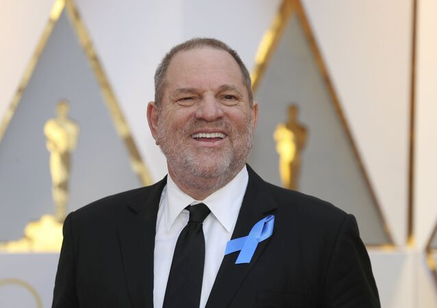 Harvey Weinstein poses on the Red Carpet after arriving at the 89th Academy Awards in Hollywood, California, U.S. (File)