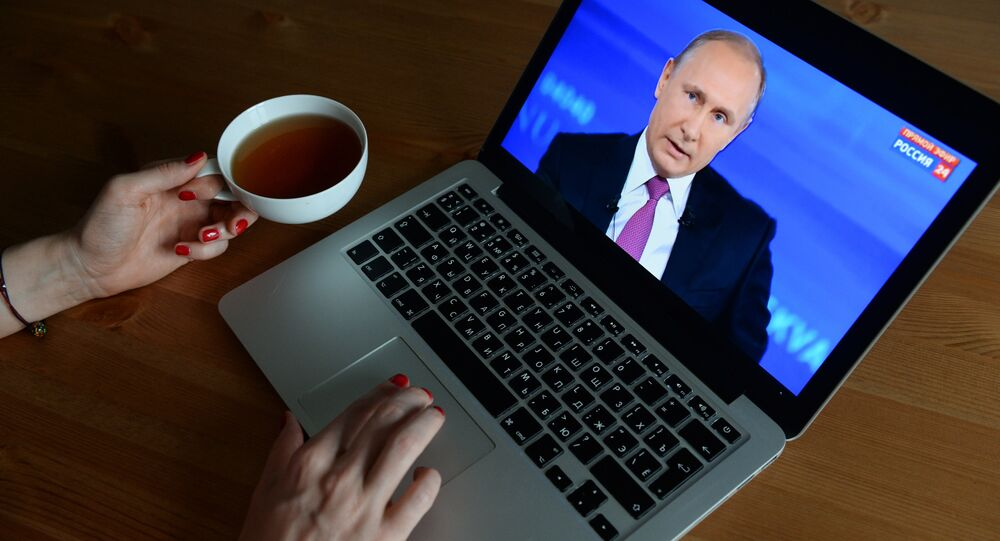 The live broadcast of the Direct Line with Vladimir Putin.