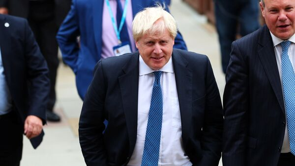 Britain's Foreign Secretary Boris Johnson arrives at the Conservative Party conference in Manchester, Britain October 3, 2017 - Sputnik International