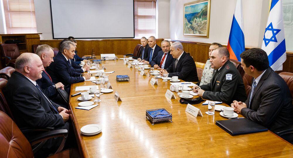 Israeli Prime Minister Benjamin Netanyahu met with the Russian Defense Minister Sergei Shoigu