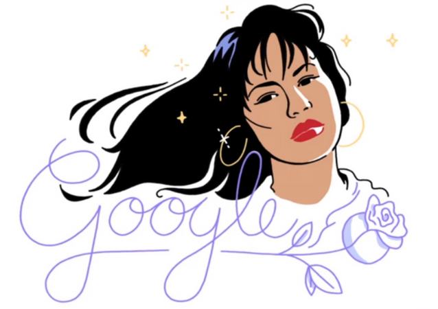Selena Quintanilla, dubbed the Queen of Tejano music, is honored in a Google Doodle Tuesday, October 17, 2017 on the anniversary of the late singer's 1989 debut album