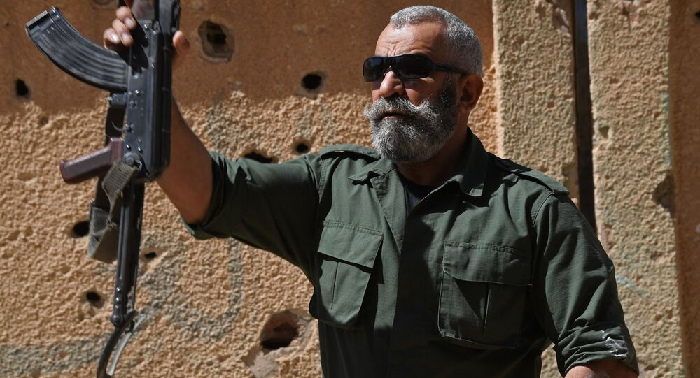 General Issam Zahreddine of the Republican Guard instructs new recruits in Deir ez-Zor, Syria. (File)